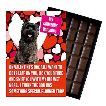 Cairn Terrier Gift for Valentines Day Presents For Dog Lovers Boxed Chocolate