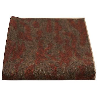 Luxury Persian tumma Amber kuvio Pocket Square, nenäliina