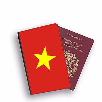 VIETNAM Flag Passport Holder Style Case Cover Protective Wallet Flags design