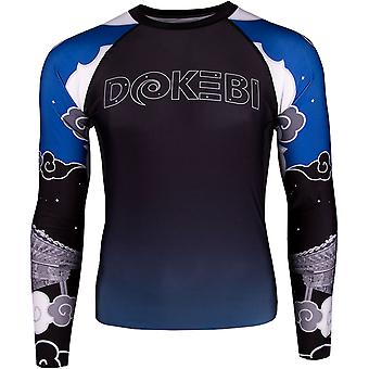 Dokebi Temple Long Sleeve BJJ Rashguard - Blue