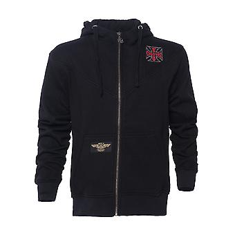 West Coast Choppers Men's Zip Hoodie Web Cross