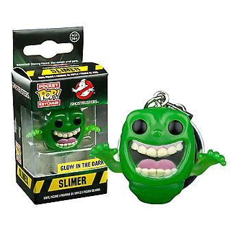 Ghostbusters Slimer Glow US Exclusive Pocket Pop! Keychain