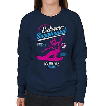 Extreme snowboard ' 19 ' 20 Avoriaz Frankrijk vrouwen ' s Sweatshirt