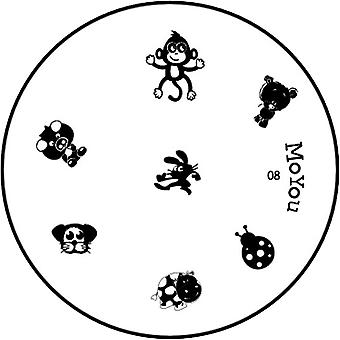 MoYou Runde Stamping Nail Art Image Plate - Tiere - 8
