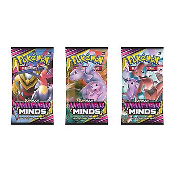 Pokemon-Sun et Moon 11 Unified Minds Booster Pack 3 pack