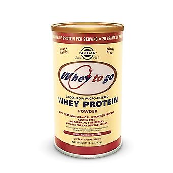 Solgar Whey To Go Protein Powder* Natural Vanilla Flavor 12 Oz