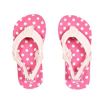 Reef Little Ahi Flip Flops in Pink Polka Dot