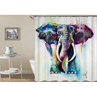 Powerful Elephant Art Painting Shower Curtain