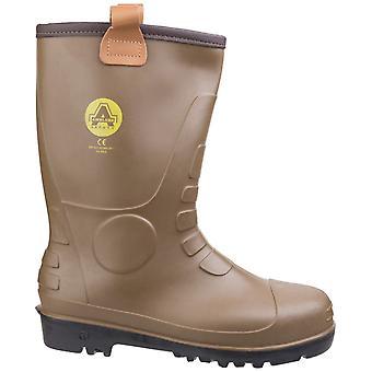 Footsure 95 braun PVC Rigger Sicherheit Gummistiefel / Mens Sicherheit Schuhe
