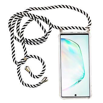 Handykette für Samsung Galaxy Note 10 - Smartphone Necklace Hülle mit Band - Schnur mit Case zum umhängen in Schwarz