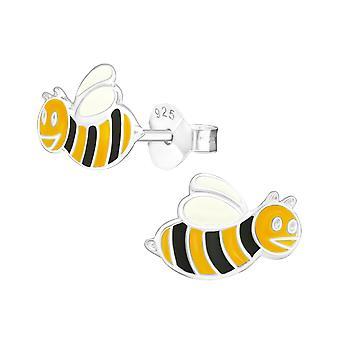 النحلة - 925 ستيرلينغ فضة ملونة الأذن ترصيع - W4410x