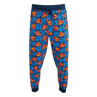 Superman Mens Logo Lounge Bottoms