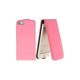 Pink Vertical Opening Cover For IPhone 5