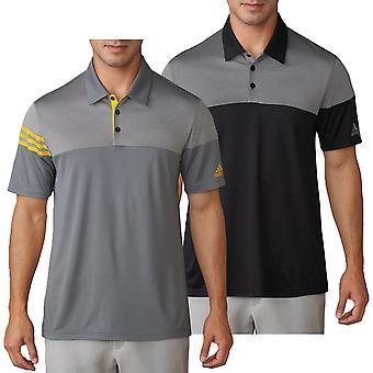 adidas Golf Herren Heather 3-Streifen Polo Shirt