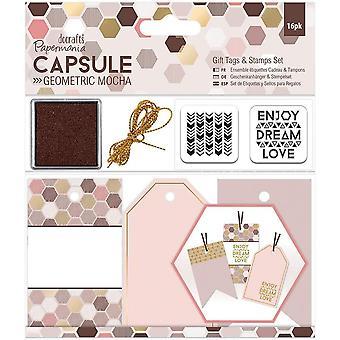 Papermania Geometric Gift Tag And Stamp Set