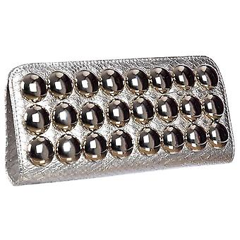 Onlineshoe Ladies Metallic Evening Clutch Handbag - Silver Metallic