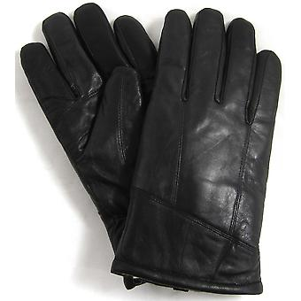 Snugrugs Mens Leather Glove with Thick Wool Fleece Lining