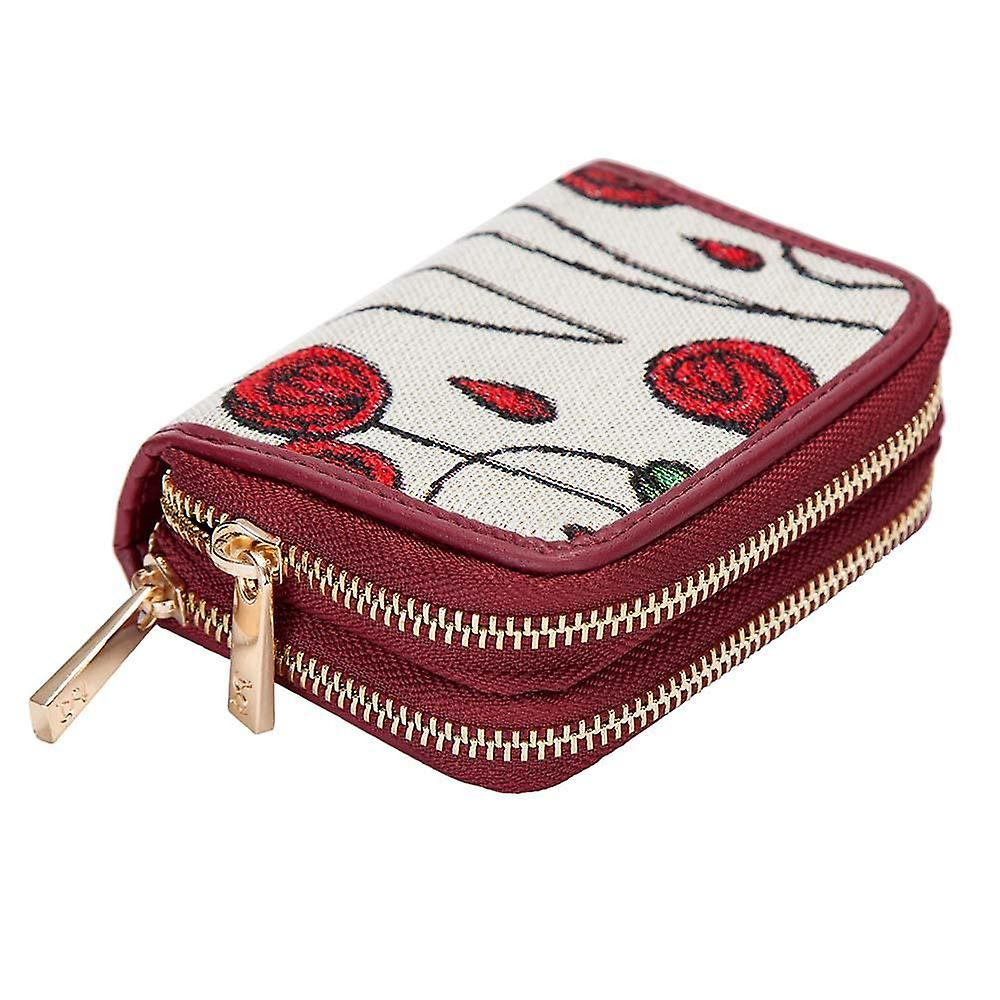 Mackintosh - simple rose double-zip rfid money wallet by signare tapestry / dzip-rmsp