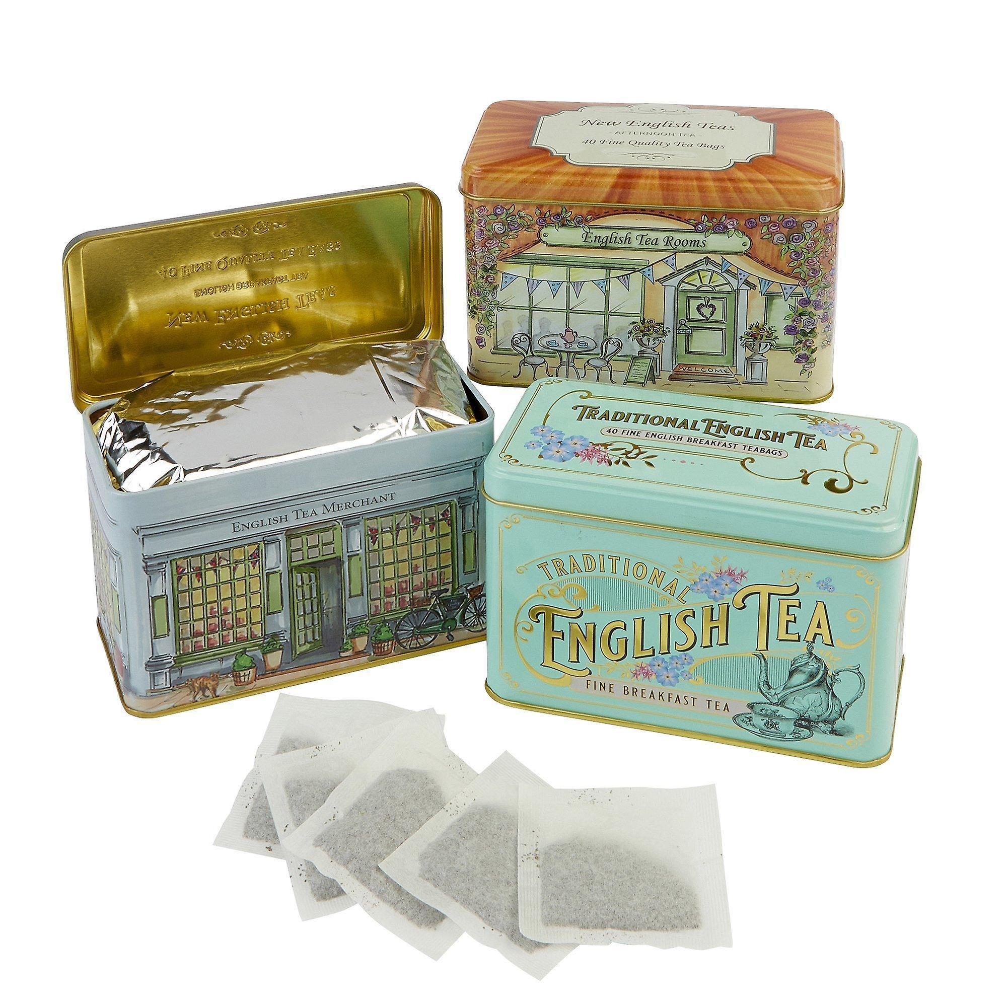 Vintage english tea selection