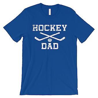 Hockey Dad Mens Royal Blue Sentimental Cool Cute Shirt Gift For Dad