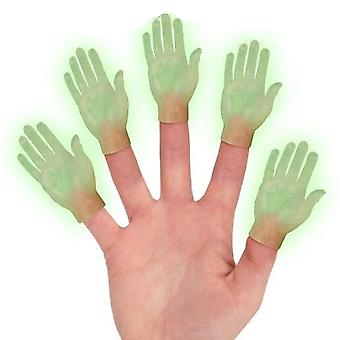 Archie McPhee Glow In The Dark Hand Finger Marionnettes
