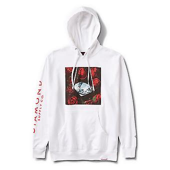 Diamond Supply Co Rose Diamond Pull over Hoodie Blanc