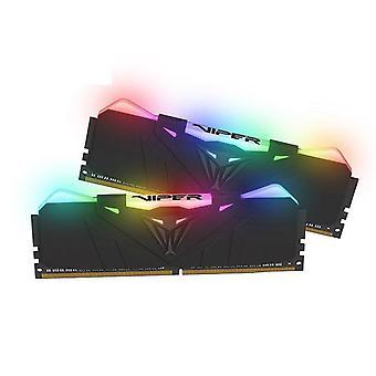 Patriot Viper RGB 16Gb 2X8Gb Ddr4 3600 Cl17 zwart koellichaam