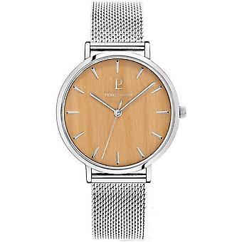 Reloj Pierre Lannier 017F688 - Vidrio pulido acero s rigraphi plata dial madera color beige índice plata índice plata