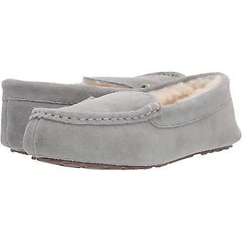 Amazon Essentials Kvinner & Apos;s Skinn Moccasin Slipper, Lys Grå, 5 M USA