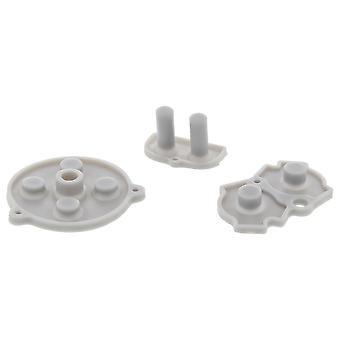 Conductive buttons for game boy advance nintendo gba console silicone contact pad replacement | zedlabz