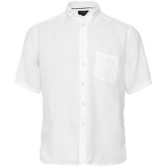Eton Slim Fit Linnen korte mouw Shirt