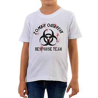 Reality glitch zombie outbreak response team kids t-shirt