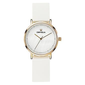 ORPHELIA naisten analoginen kello Fronte di marmo valkoinen nahka OR11706