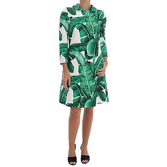 Dolce & Gabbana Banana Leaf bumbac de mătase Trench Coat