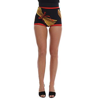 Dolce & Gabbana Pasta Sicily Silk Mini Hot Pants Shorts