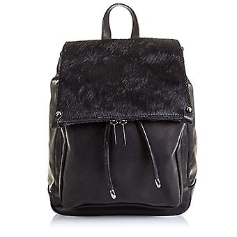 FIRENZE ARTEGIANI. Real casual women's leather backpack. Backpack bag great authentic leather. Savage skin soft touch. MADE IN ITALY. REAL ITALIAN SKIN. 27 x 33 x 19 cm. Color: Black