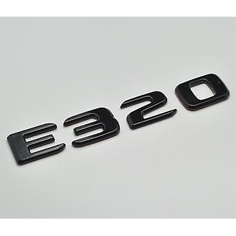 Gloss Black E320 Flat Mercedes Benz Car Model Rear Boot Number Letter Sticker Decal Badge Emblem For E Class W210 W211 W212 C207/A207 W213 AMG