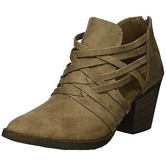 Fergalicious Womens Jillie Leather Almond Toe Ankle Fashion Boots
