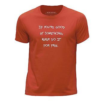 STUFF4 Chłopca rundy szyi T-shirty Shirt/SuperHero cytat/Darmowe/Orange