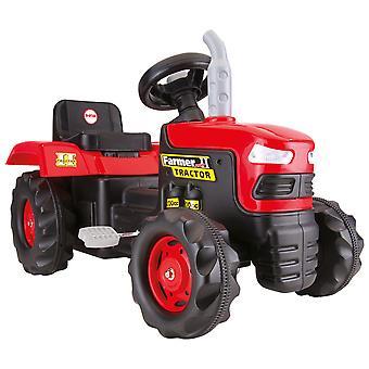 Dolu Børns Pedal Drives Ride på traktor legetøjsbil rød