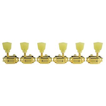 Kluson Supreme 3 + 3 Pearl Single Ring Buttons - 18:1 Gear Ratio
