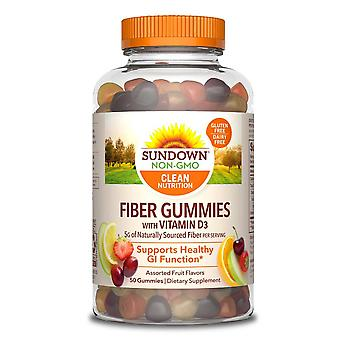 Sundown naturals fiber gummies with vitamin d3, assorted fruit flavors, 50 ea
