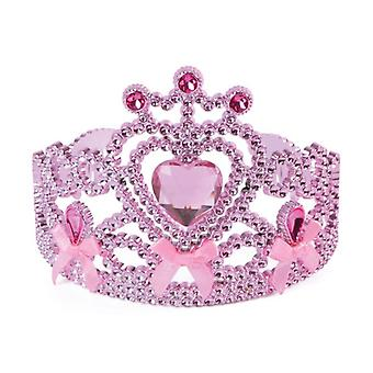 Pink Tiara W/Ribbon Bow Ties