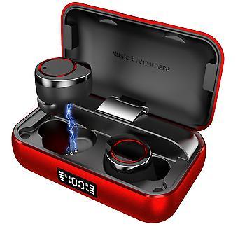 X13 bluetooth 5.0 hoofdtelefoon tws draadloze dual digital display oortelefoon met 4000mah oplaaddoos
