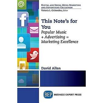This Notes For You Popular Music  Advertising  Marketing Excellence by Allan & David