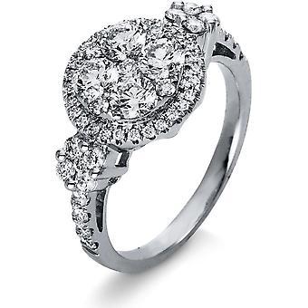 Bague Diamond - 18K 750/- Or Blanc - 1,4 ct. - 1R052W853 - Largeur de l'anneau: 53