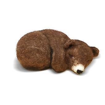 Verschlafene braune Bär Nadel Filzen Kit