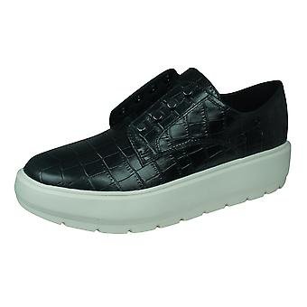Geox D Kaula D Womens Leather Loafer / Shoes - Black