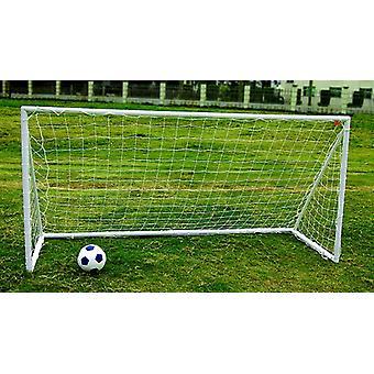 Charles Bentley Kids Junior 8ftx4ft Plastic Portable White Football Goal Inc. Net
