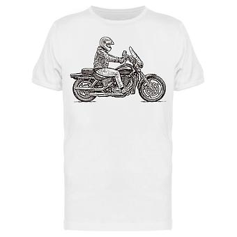 Person Rides A Motorcycle Tee Men's -Bild von Shutterstock